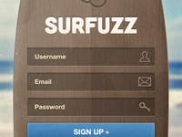 Surfuzz - Sign Up Page Template