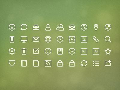Eco Ico icons line icons