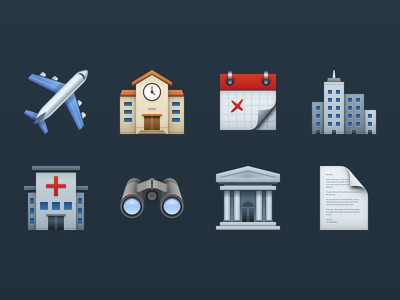 Skeuomorphic Icons skeuomorphic icons