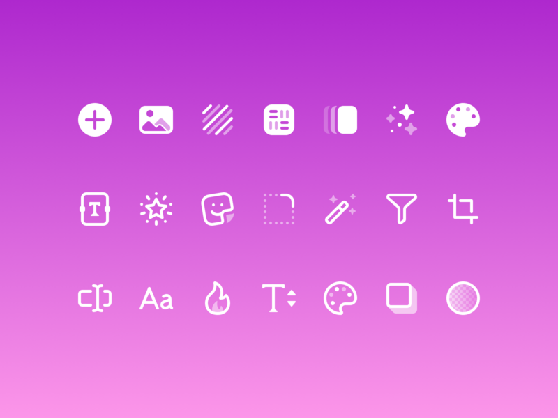 PosterBoost UI Icons lightricks ios icons iconset app ui ios icons
