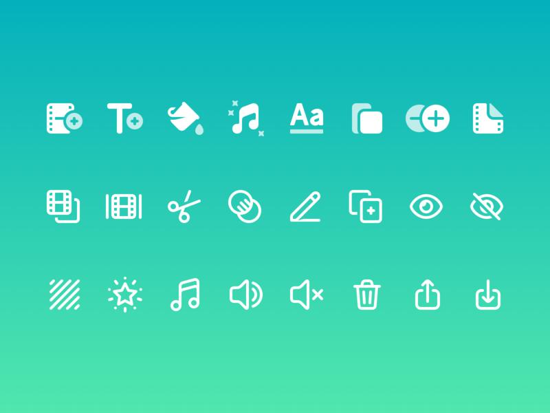 VideoBoost UI Icons ios icons lightricks iconset ios app ios ui icons icons