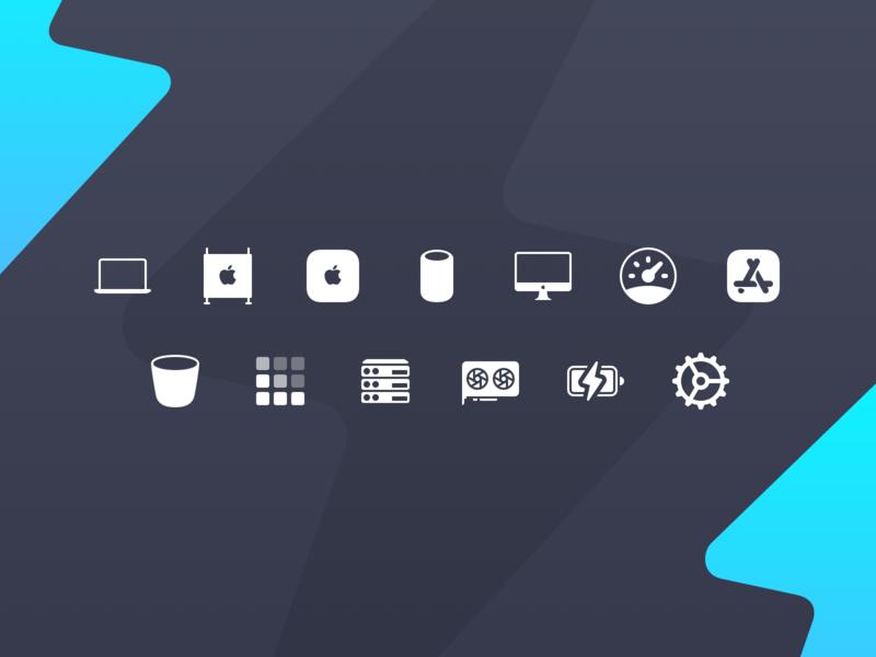 Sensei Sidebar Icons apple device icons in app icons ui icons mac icons icons macos