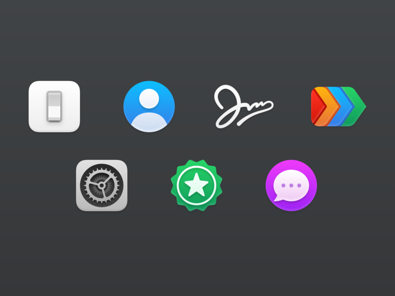 Airmail Zero Preference Icons icons ui icons pref icons prefs mac app preference icons preference icons macos icons macos