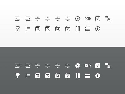 SheetPlanner Toolbar Icons icons mac app ui icons toolbar icons macos