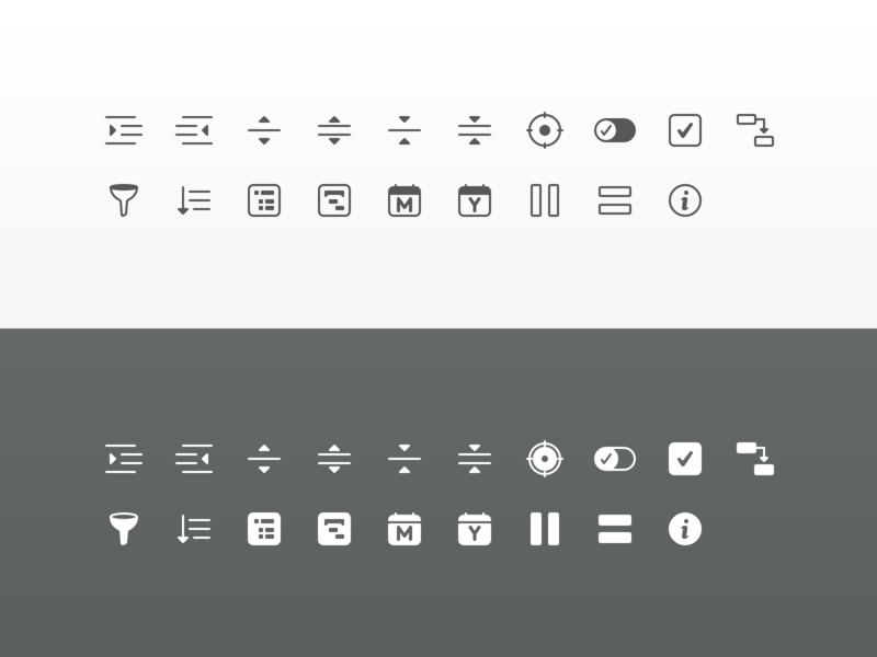 SheetPlanner Toolbar Icons