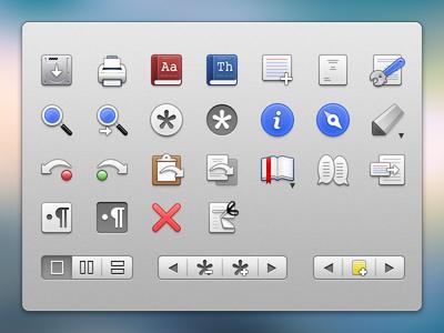 Final Draft  - Menubar Icons final draft icons os x ui icons ui icons