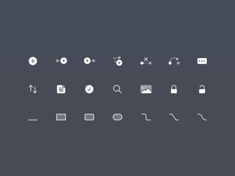 Focusplan Toolbar and UI Icons app macos iconset toolbar icons mac ui icons ui icons icons mac focusplan