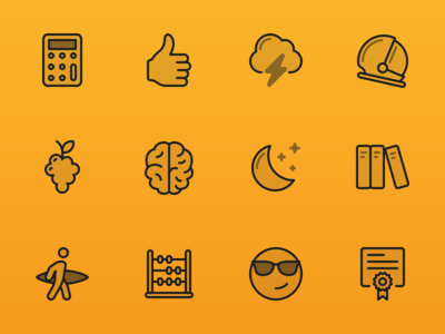 Focusplan Sticker Icons