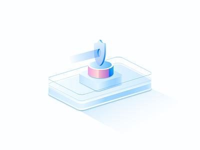 2.5d概念系列(1) 大数据 branding design vector 抽象 安全 app ui 3d 插画 概念设计