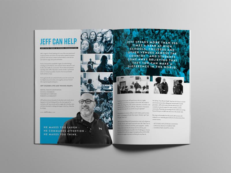 Motivational brochure speaker motivational branding typography booklet brochure design