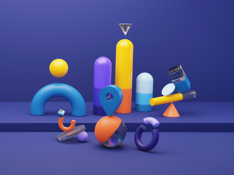Data Render geometry imagery visual graphic abstract geometric colourful data rendering illustration cycles render blender 3d blender 3d graphic