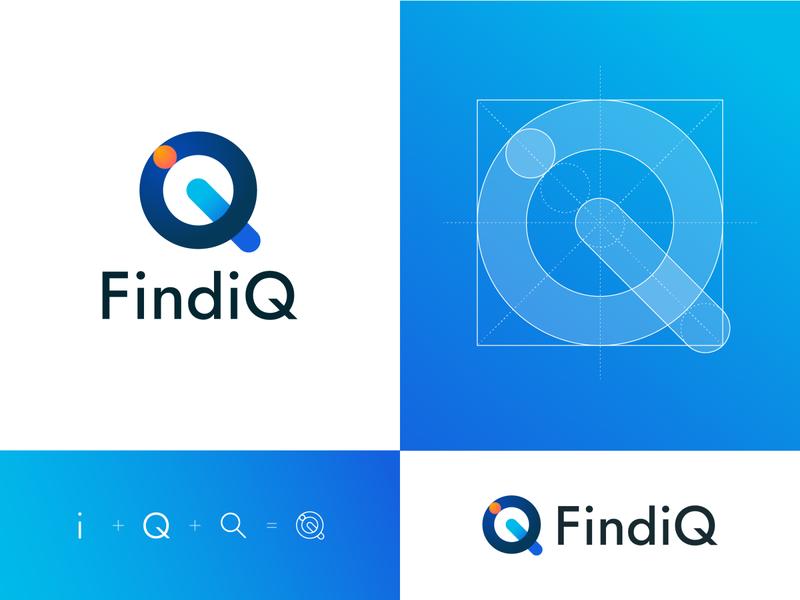 FindiQ (unused 1/3) visual design rejected logo logo concept concept logo design vector branding logo typography graphic graphic design design