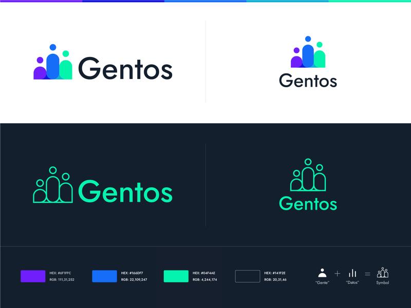 Gentos (unused 2/3) brand identity flat people data cncept unused logo logo design logo graphic design design