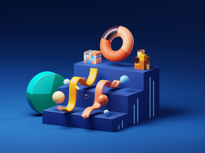 GeeiQ Insights render pbr materials geometry shapes graphic cycles render cycles blender 3d visualgraphic abstract 3dfordesigners composition illustration blender3d 3d blender