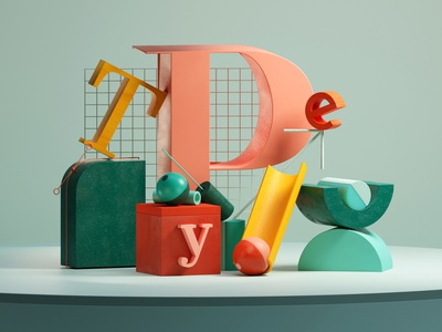wHaT's YoUr... abstract graphic 3d illustration design cycls cyclesrender b3d blender3d typography composition