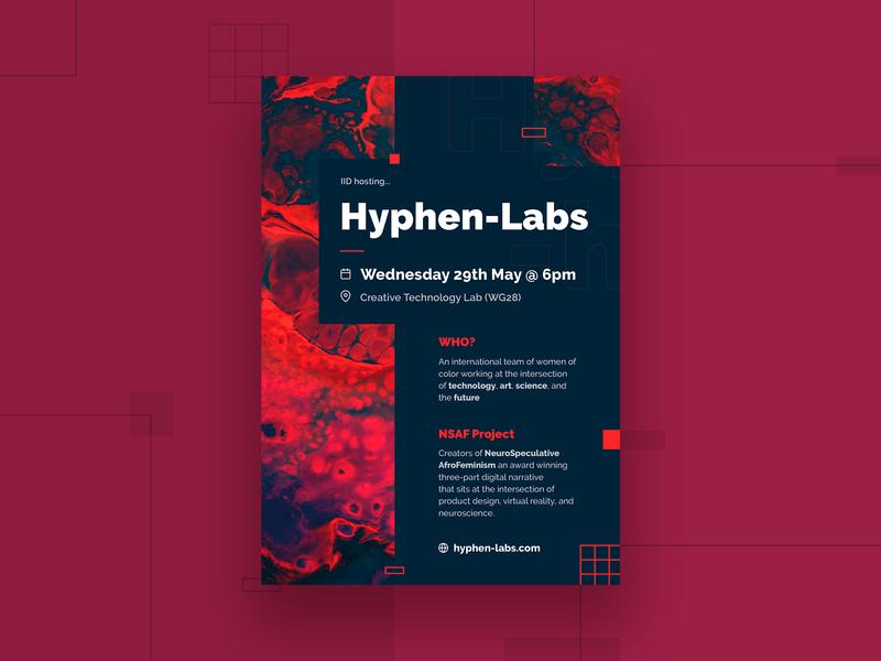 Event Flyer for Hyphen-Labs london flyer designs flyer design visual design typography flat abstract unsplash indesign print design print branding graphic design graphic vector design