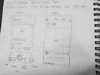 Wirefames sketches 01