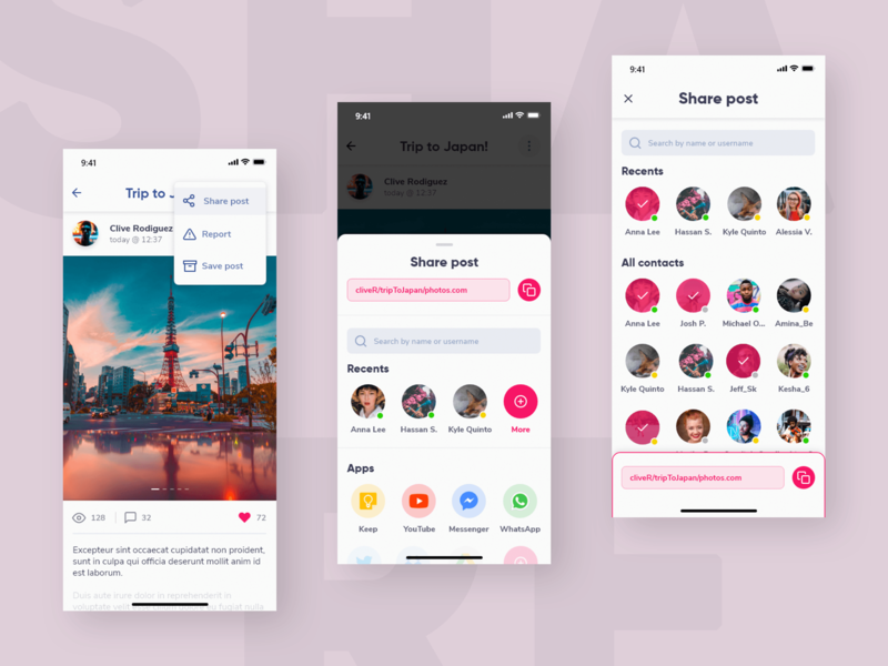 Social Share social sharing typography digital design unsplash madewithxd practice ui material design 2 material design vector social share social media design ios ios app design app design weekly ui ui design visual design design