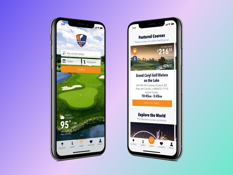 Supreme Golf - Native App Design supreme golf application design ui design sketch app creative director user experience design