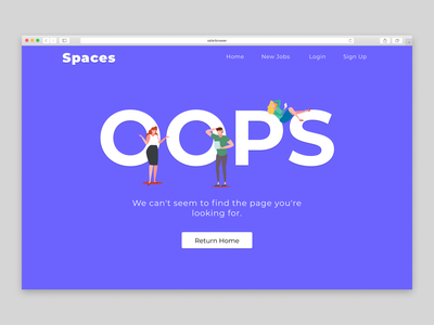Daily UI #008 - 404 page 404 landing illustration uxdesign ux ui daily ui