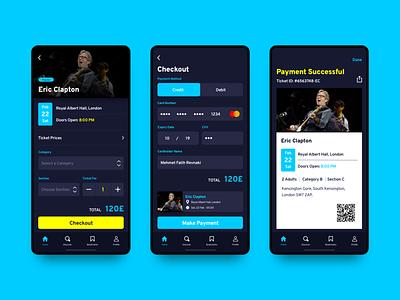 Event App - 2 ux ui clean ui typography sketchapp simple mobile app mobile dark ui minimal event app design concert concept clean app
