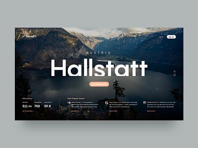 Travel Blog Slider Concept austria hallstatt ux ui typography travel simple minimal clean slider website web