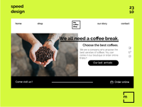Inteface design : The Coffee Shop