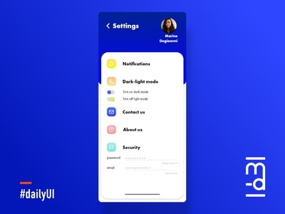Settings UI design 🚀💻