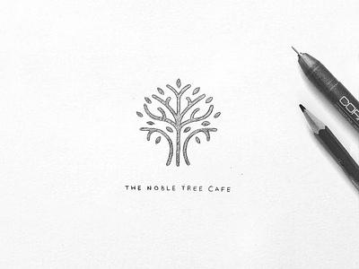 First logo sketch - The Noble Tree Cafe pencilsketch sketchbook sketch drawing linework inspiration leaves leaf nature coffeeshop coffee tree art artwork artist designer illustration typography design branding