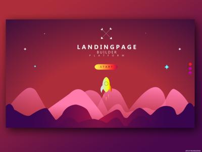 Rocket mane landing page
