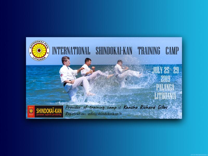 Shindokai kan - Karate Summer Camps Advertising Flyer karate kid blue icon photoshop ux ui  ux ui uidesign adobe branding logo vector dailyui typography lithuania @dailyui design karate advertising flyer