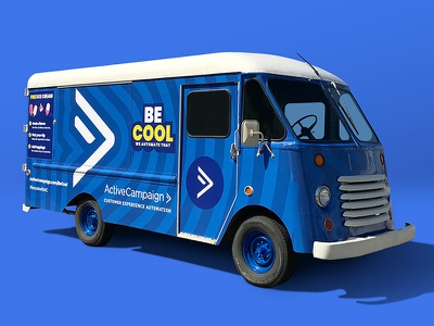 Customer Experience Automation Truck Wrap branding and identity marketing automation email marketing saas visual identity branding ice cream truck ice cream truck cx automation customer experience inbound marketing marketing automation truck wrap vehicle wrap