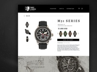 Men's Watch Individual Product Page | UI & Art Direction