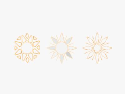 Geometric Sun Icons