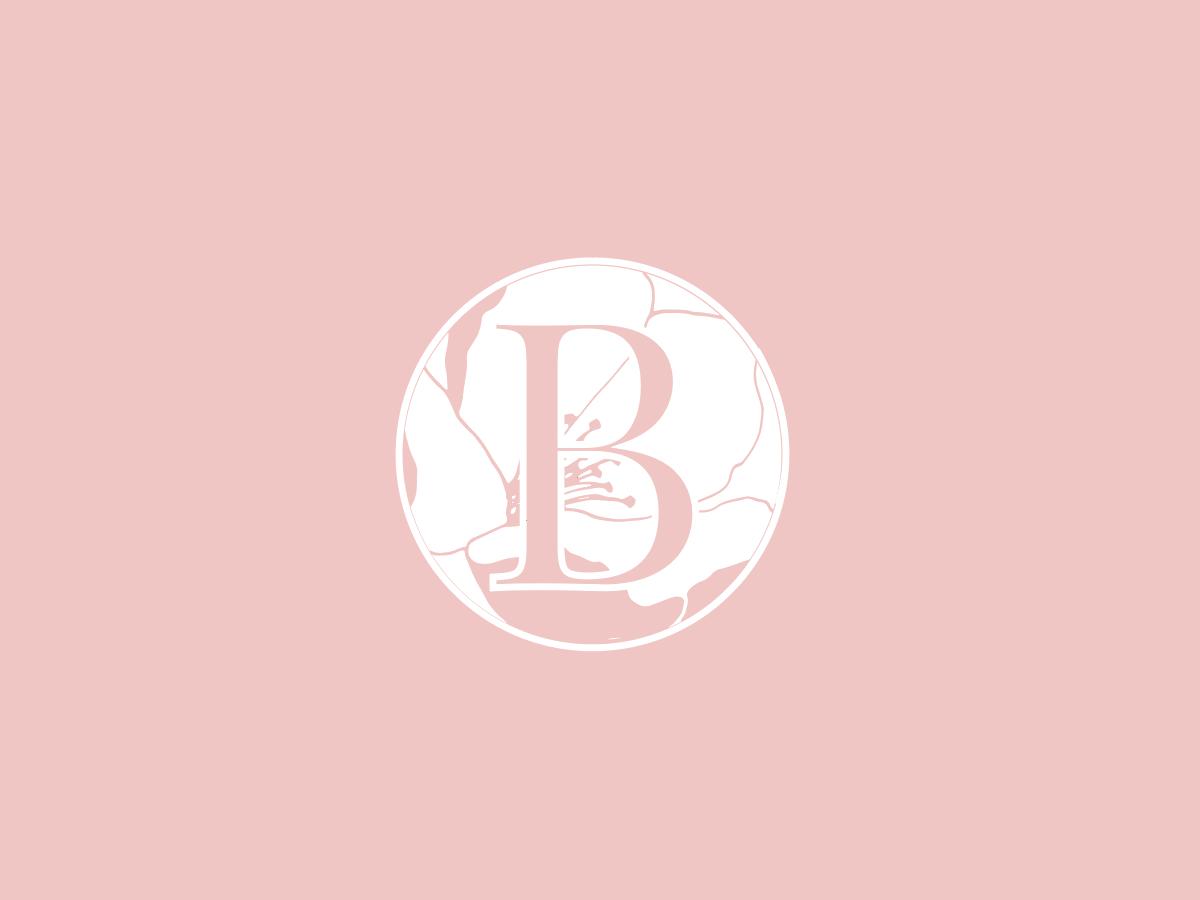 "Floral ""B' Lettermark vector illustration badge design logo branding concept icon artwork b letter b logo floral icon"