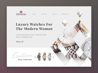 Luxury Watch Landing Page Concept