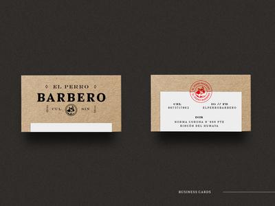 Barber Cards vintage seal logo kraft cardboard design card design card business card branding
