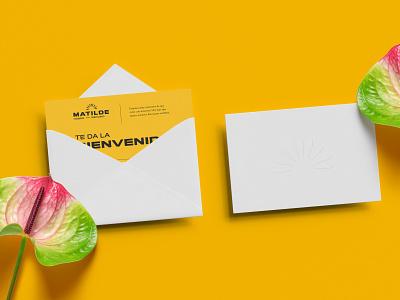 Matilde ( Woman Shelter ) welcome shelter yellow envelope design card design card business card branding