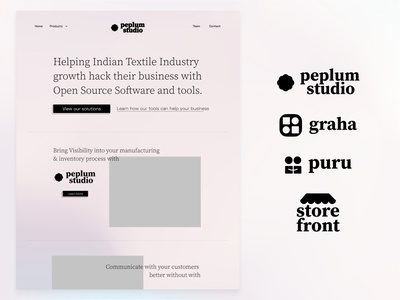 ( WIP ) Peplum Studio ux payroll india agency crm erp b2b website smb b2b app web app design branding logo design