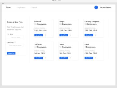 Hafta - Firms Dashboard website flat ui typography design hr cloud ux web ui web app design app web hr payroll