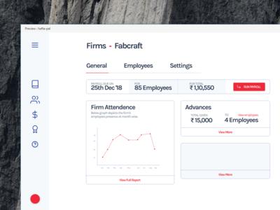 Hafta - Payroll App | Firms View clean blue vector icon illustration typography minimal animation web ui website web app design web ux ui payroll hr cloud hr flat design app