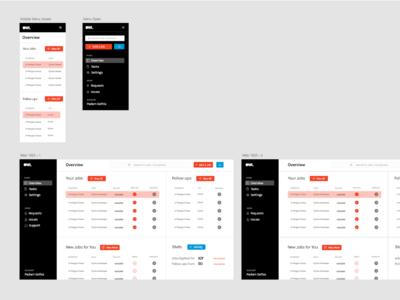 OWL \ Job tracking App web design web app design web web app job board ux ui dashboard design dashboard job app