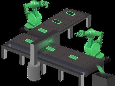 Conveyer Belt illustration illustrator vector