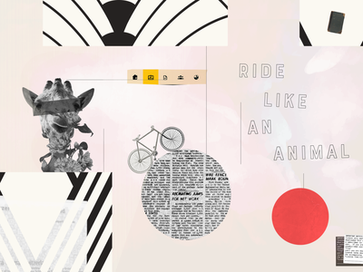 Ride Like An Animal collageart collage illustration