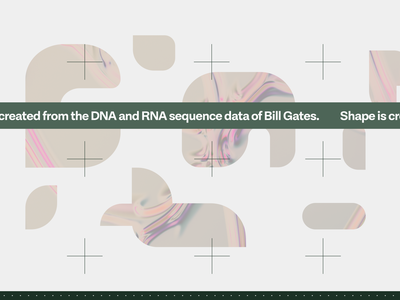 Bill Gates DNA design concept art branding