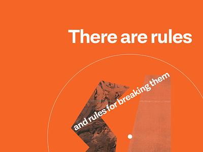 Rules collage design concept art
