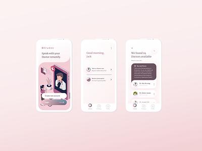 Speak with your Doctor Remotely doctor medical ux app design app