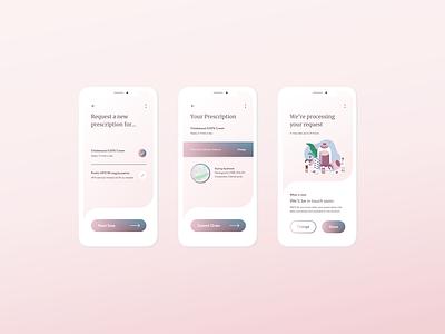 Renew your prescription whenever medical app app ux design ui ux medical