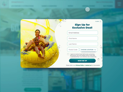 Great Wolf Lodge - Sign Up Form animation ux ux design ui design ui digital ui digital interaction uidesign interactiondesign