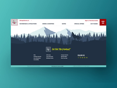 Footer Parallax forest animal video footer user interface branding design art direction ui illustration parallax effect parallax animation ui design concept design branding digital uidesign interaction interactiondesign
